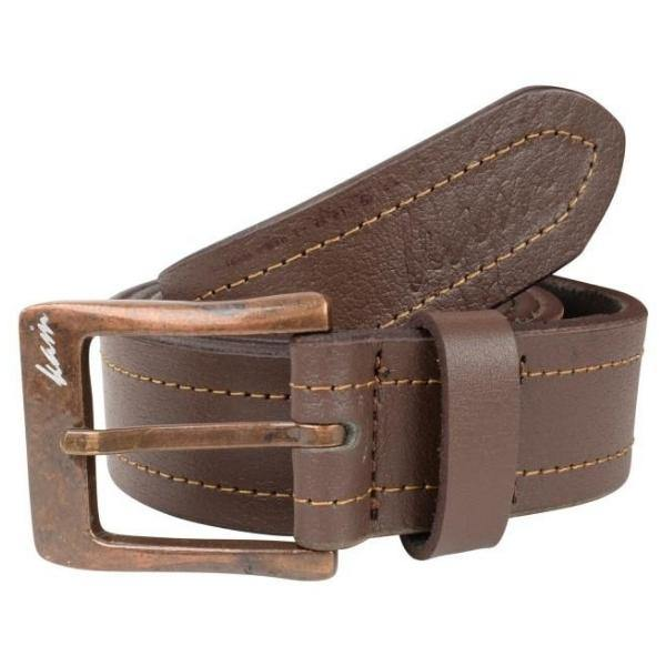 Kam Leather Stitch Pattern Belt - Brown & Black Available - Big Guys Menswear