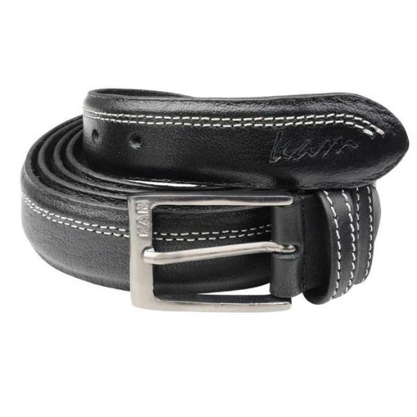 Kam Leather Trousers Belt - Black & Brown Available - Big Guys Menswear