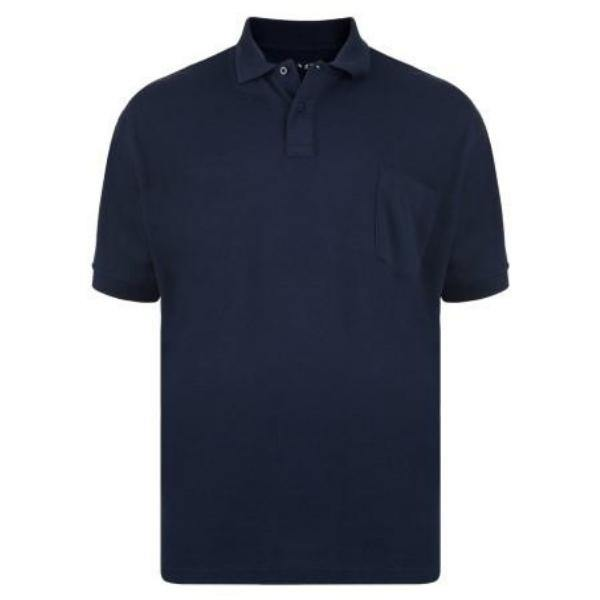 Kam Plain Polo Shirt ~ 3 Colours - sizes 3XL, 4XL & 6XL - Big Guys Menswear