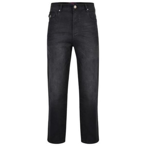 Kam Regular Fit Stretch Jeans With Emboss - Big Guys Menswear