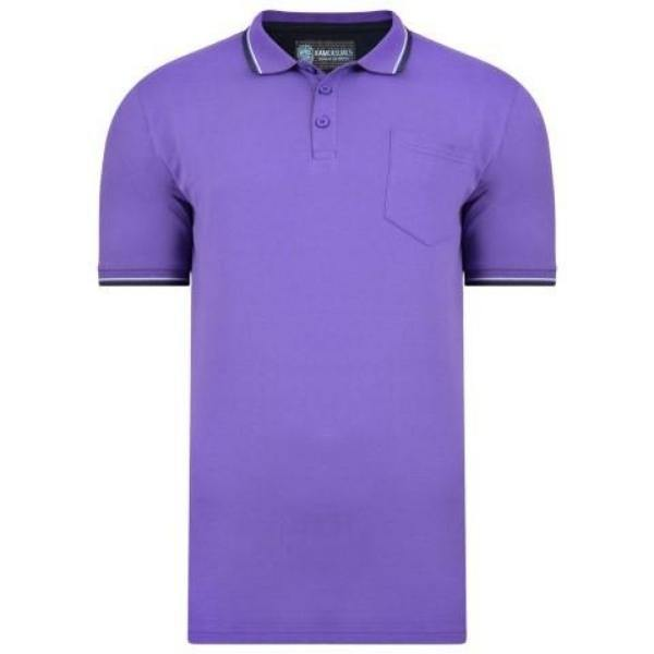 Kam Script Tip Collar Polo - 2 Available Colours sizes 3XL-8XL