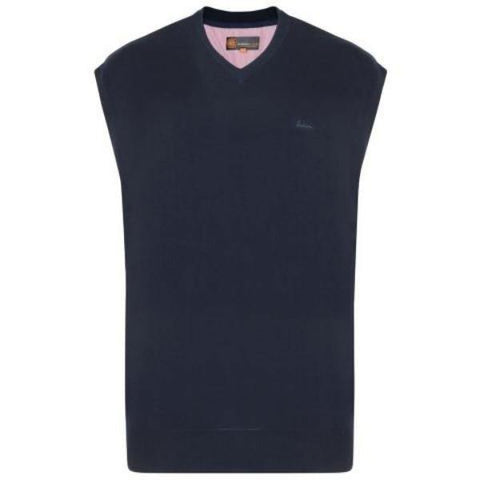 Kam V-Neck Sleeveless Knit Jumper - 3 Colours Available - Big Guys Menswear