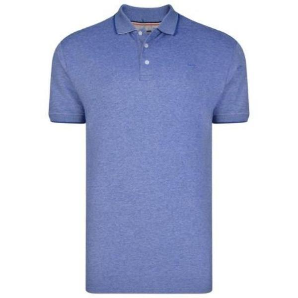 Kam White Noise Woven Polo - 2 Available Colours sizes 2XL-8XL - Big Guys Menswear