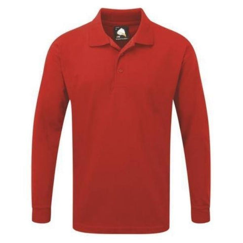 Men's Orn Weaver Premium Long Sleeve Poloshirt - Variety of Colours - Big Guys Menswear