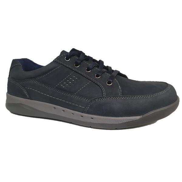 Roamers Navy Waxy Nubuck Shoes