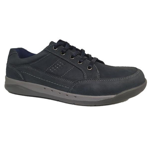 Roamers Navy Waxy Nubuck Shoes - Big Guys Menswear
