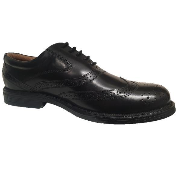 Scimitar Wing Cap Brogue Oxford Leather Shoes