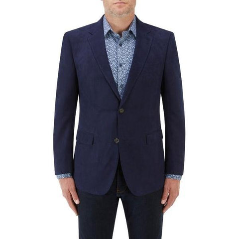 Skopes Blue Suede Effect Smart Jacket - Big Guys Menswear