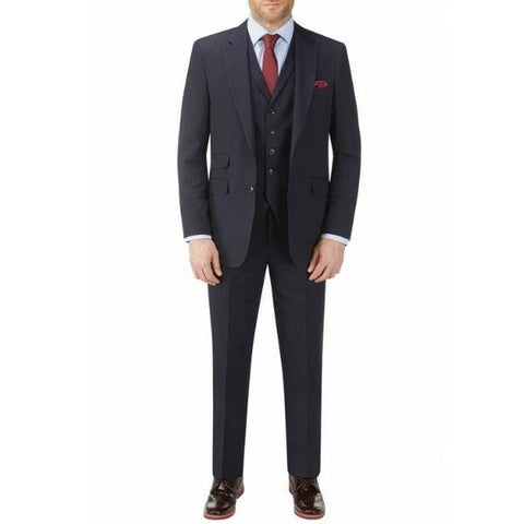 Skopes Cradley Stripe Navy 3 Piece Suit - Big Guys Menswear