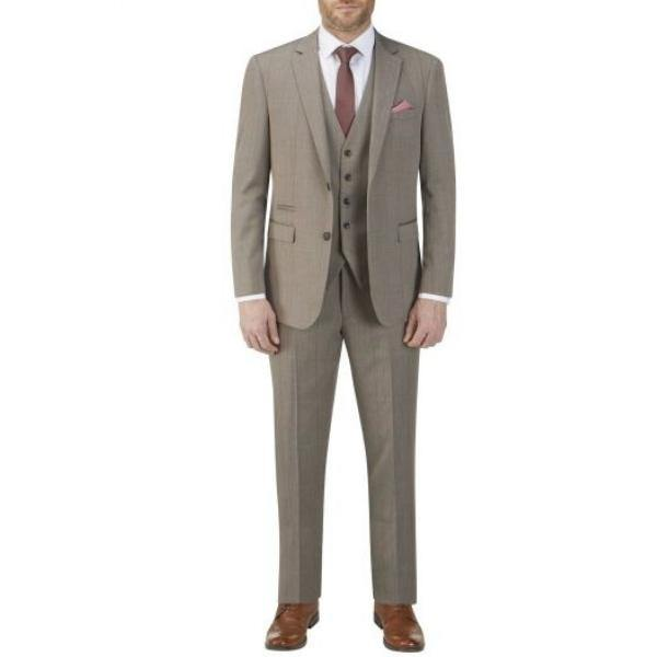 Skopes Dunstall Brown Check 3 Piece Suit