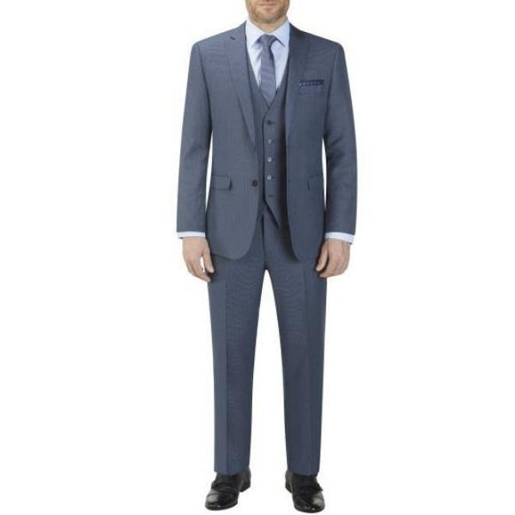 Skopes Fermo Blue Micro Check 3 Piece Suit
