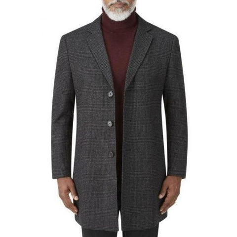 Skopes Teviott 3/4 Length Tweed Overcoat - 2XL~4XL - Big Guys Menswear