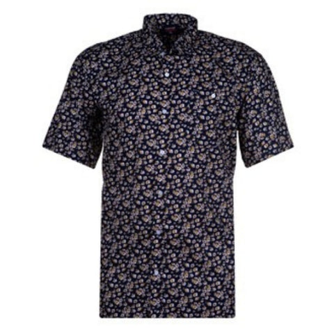 Espionage Floral Navy Shirt