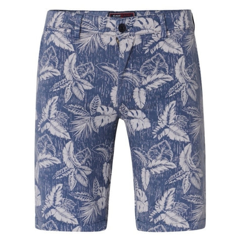 Kam Woven Stretch Floral Shorts - Denim | Sand