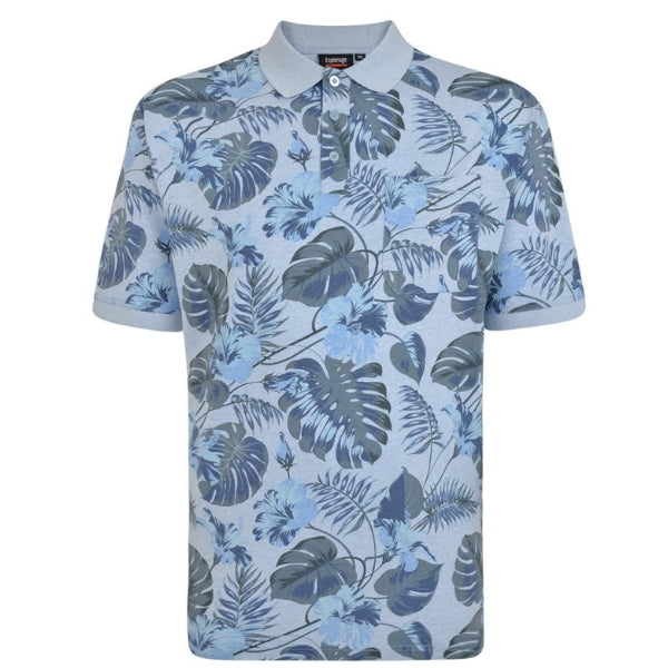Espionage Leaf Print Polo