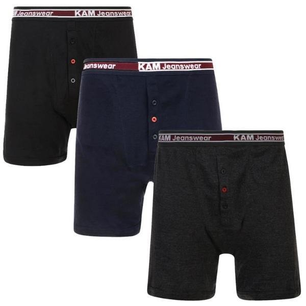 Kam Rib Boxer Shorts ~ Pack of 3 & Bulk Buy - Big Guys Menswear