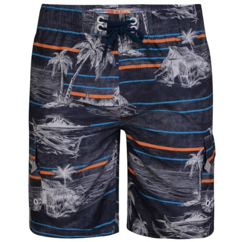 Kam Palm Print Swim Shorts