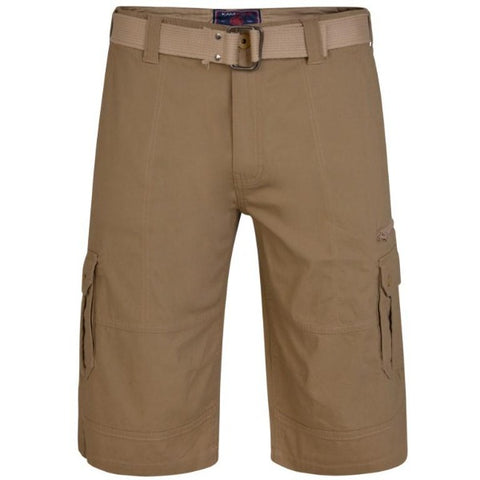 Kam Belted Cargo Stretch Shorts
