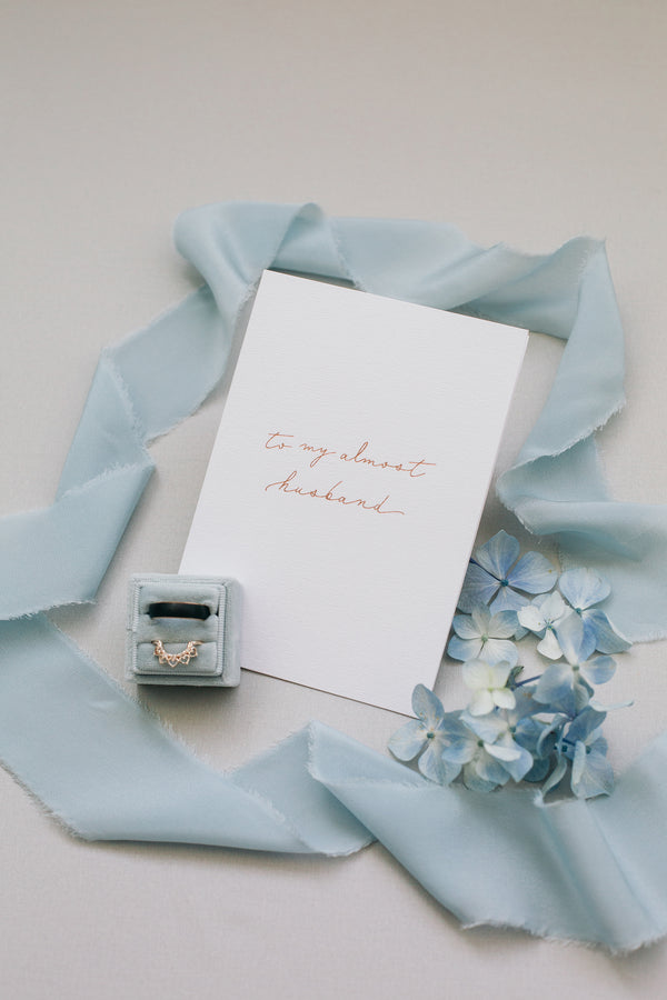 Linen Card - To my almost husband