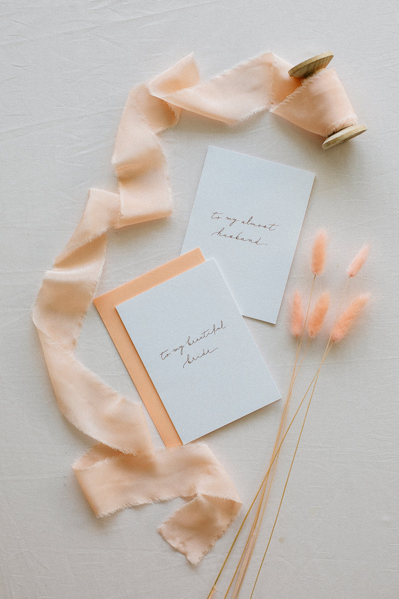 Linen Card - To my beautiful bride