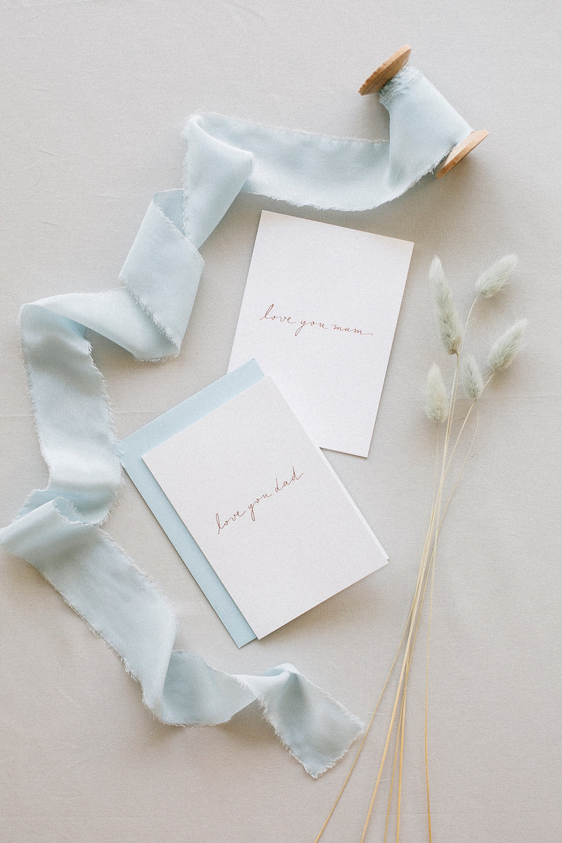 Linen Card - Love you dad