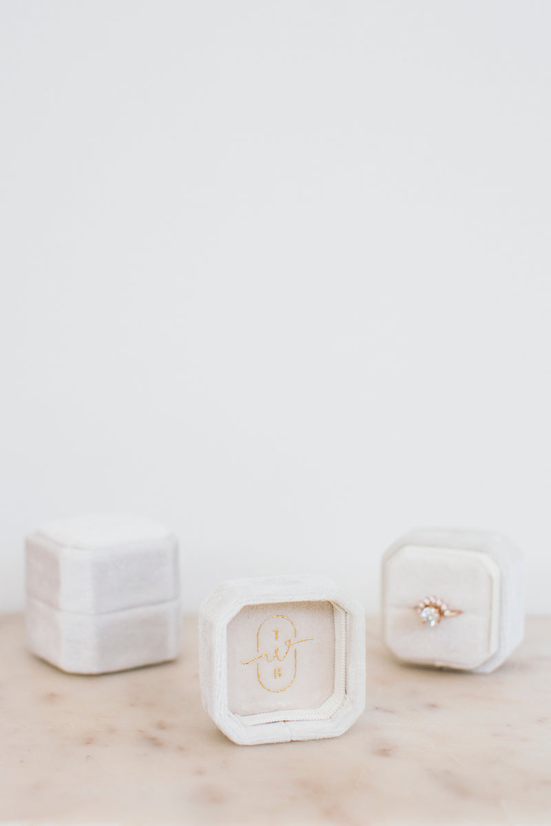 Octagonal Ring Box - Luxe Edition - Cloud