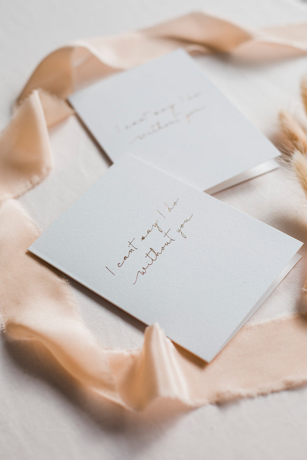 Linen Card - I can't say i do without you