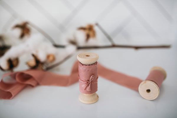Premium Silk Bouquet Ribbon - Dusty Rose (5 metres long)