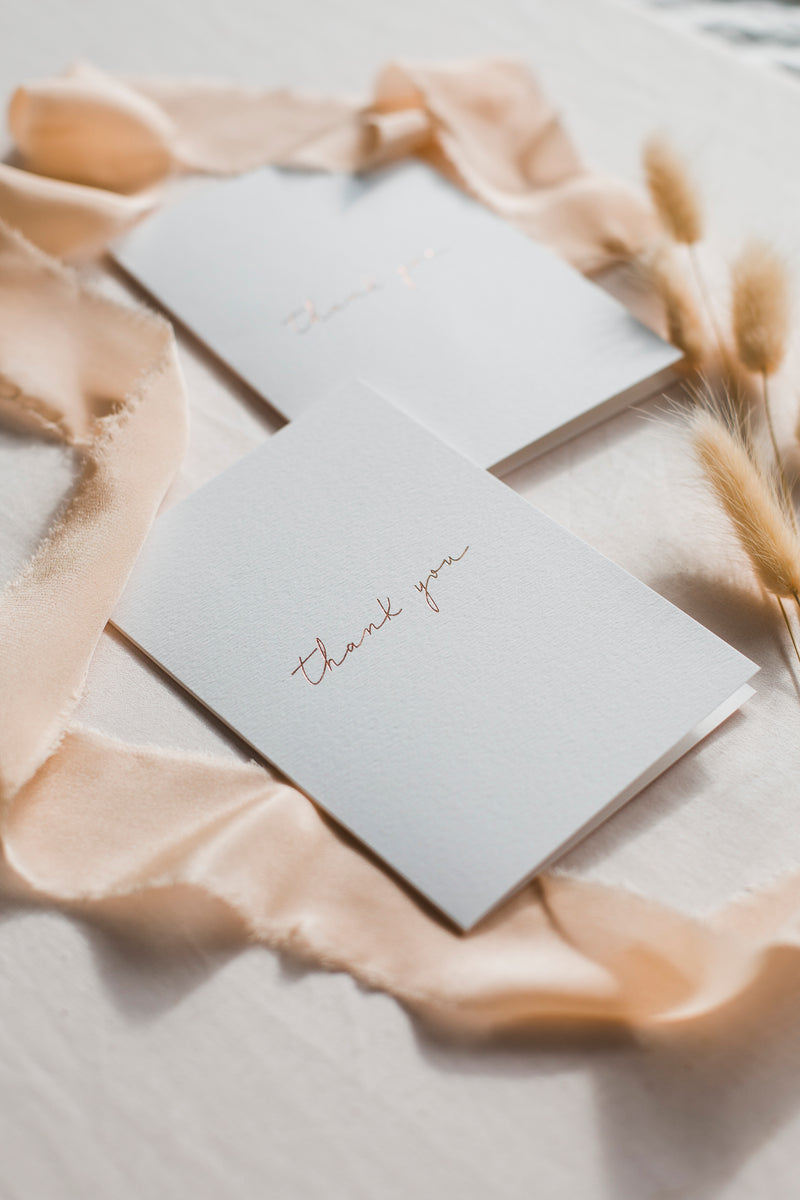 Linen Card - Thank you