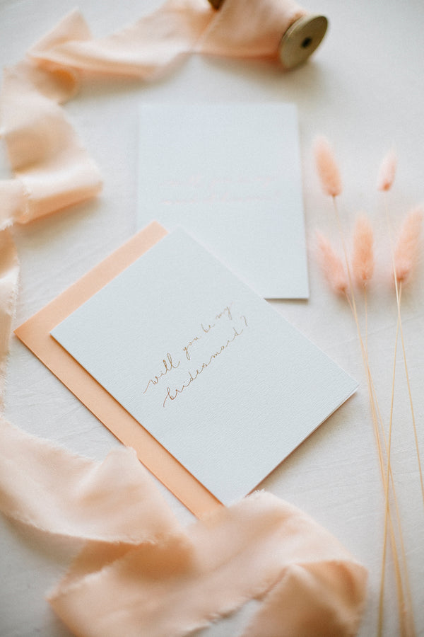 Linen Card - Will you be my bridesmaid?