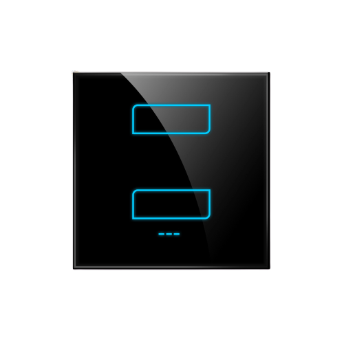 1/2/3-Gang Smart Switch - BLACK / 2 - Lighting_Switch On/Off