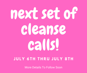 Next set of cleanse calls - July 2020