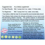 Terra Alkaline 4Salts Powder - 1 lb - (16 oz, 454 gram) Suggested Use