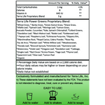 Terra Power Greens Powder - 1/4 lb - (4 oz, 113 gram) supplement facts