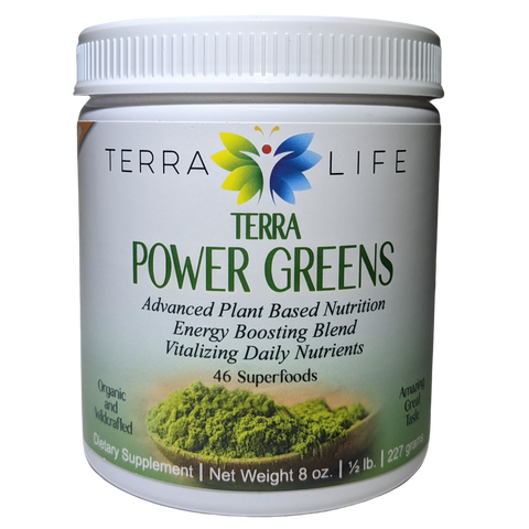 Terra Power Greens Powder - 1/2 lb - (8 oz, 227 gram)