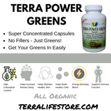 Terra Power Greens Capsules - 180 Count