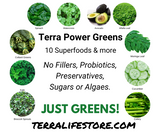 Terra Power Greens - Eco Friendly Package - 1/2 lb - (8 oz, 227 gram)