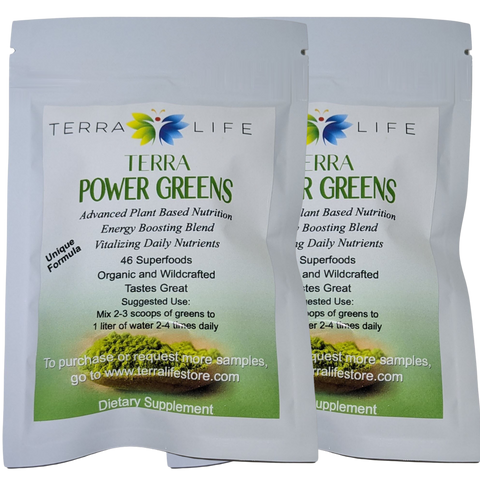 Terra Power Greens Sample Packs - 2 Pack Set