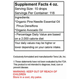 Terra Red Pine Needle Oil - 4 oz Supplement Facts