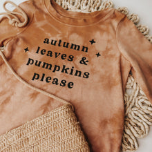 "Load image into Gallery viewer, Toddler T-shirt ""Autumn Leaves & Pumpkins Please"""