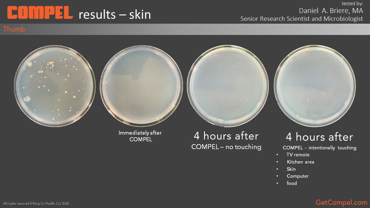 COMPEL results on skin