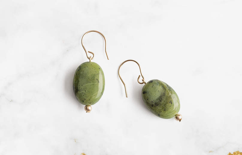 Every time you put these Green Jade earrings on, you show others that you are led by love and faith which surrounds us all.