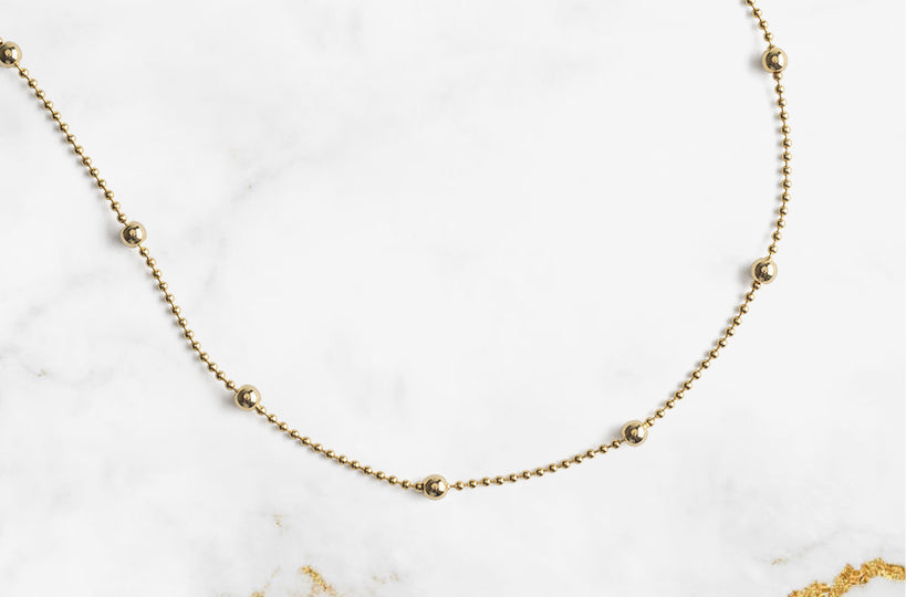 Show your appreciation for delicate and beautiful jewelry. This gold plated necklace is a simple and trendy accessory that you can wear and feel beautiful on any day.