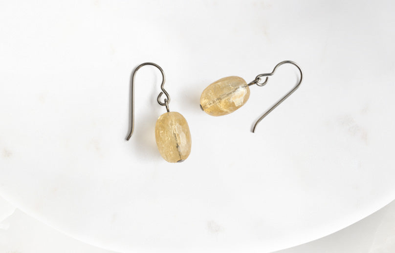 Let your earrings match your hopes, desires, and dreams. Simply Whisper niobium citrine earrings remind you to connect with your inner-self and let your aspirations manifest.