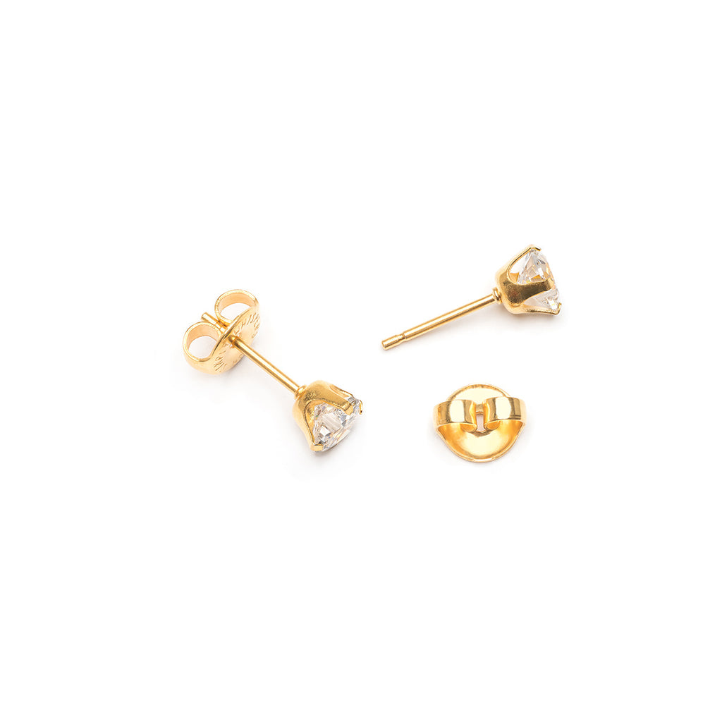 Heart Cubic Zirconia Stud Earrings - Simply Whispers