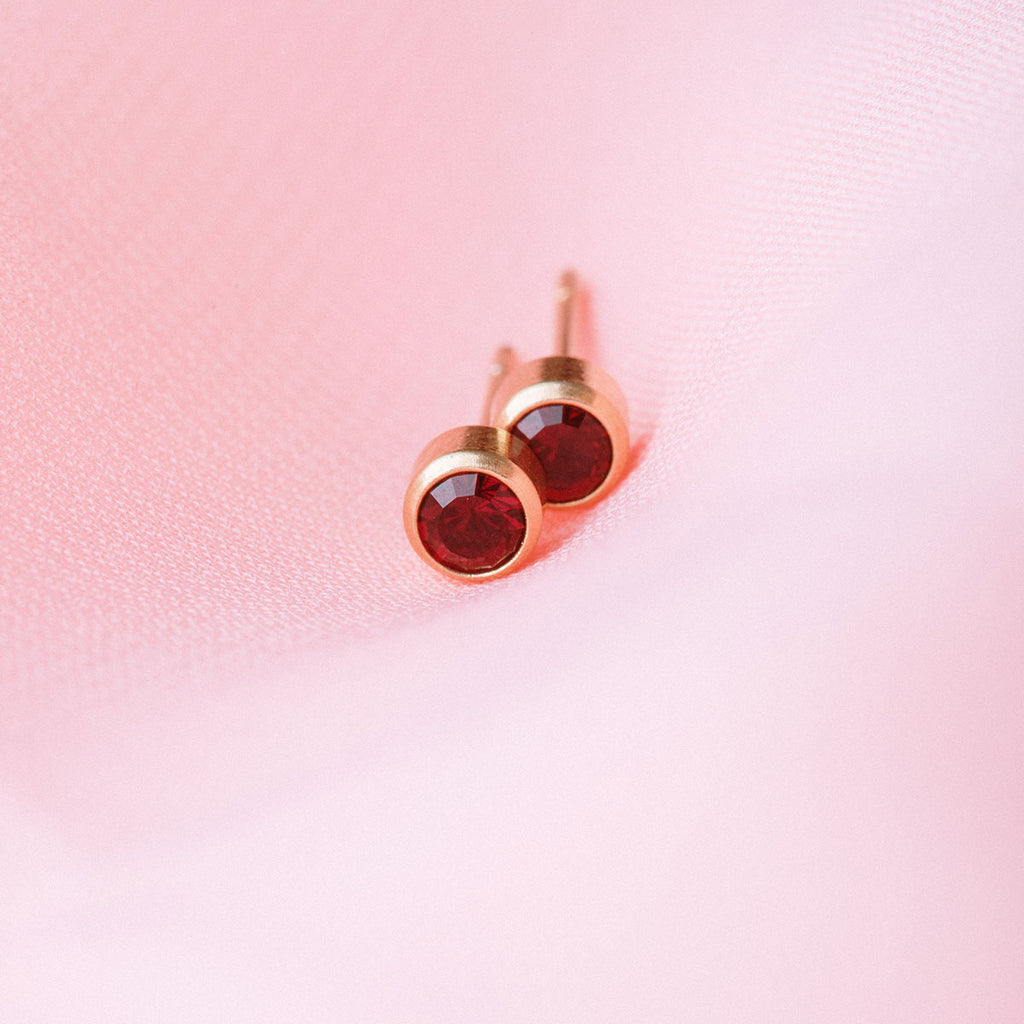 January Birthstone 14k Gold Plated Earrings - Simply Whispers