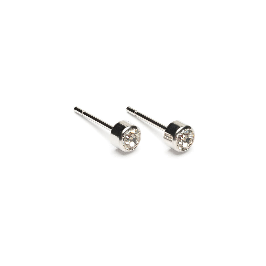 April Birthstone Stainless Steel Earrings - Simply Whispers