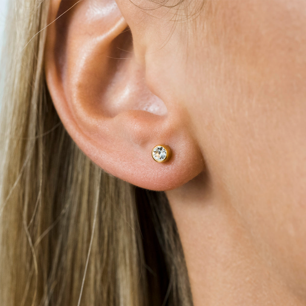 April Birthstone 14k Gold Plated Earrings - Simply Whispers