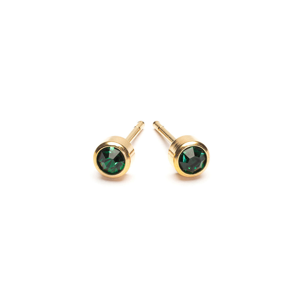 May Birthstone Gold Plated Earrings - Simply Whispers