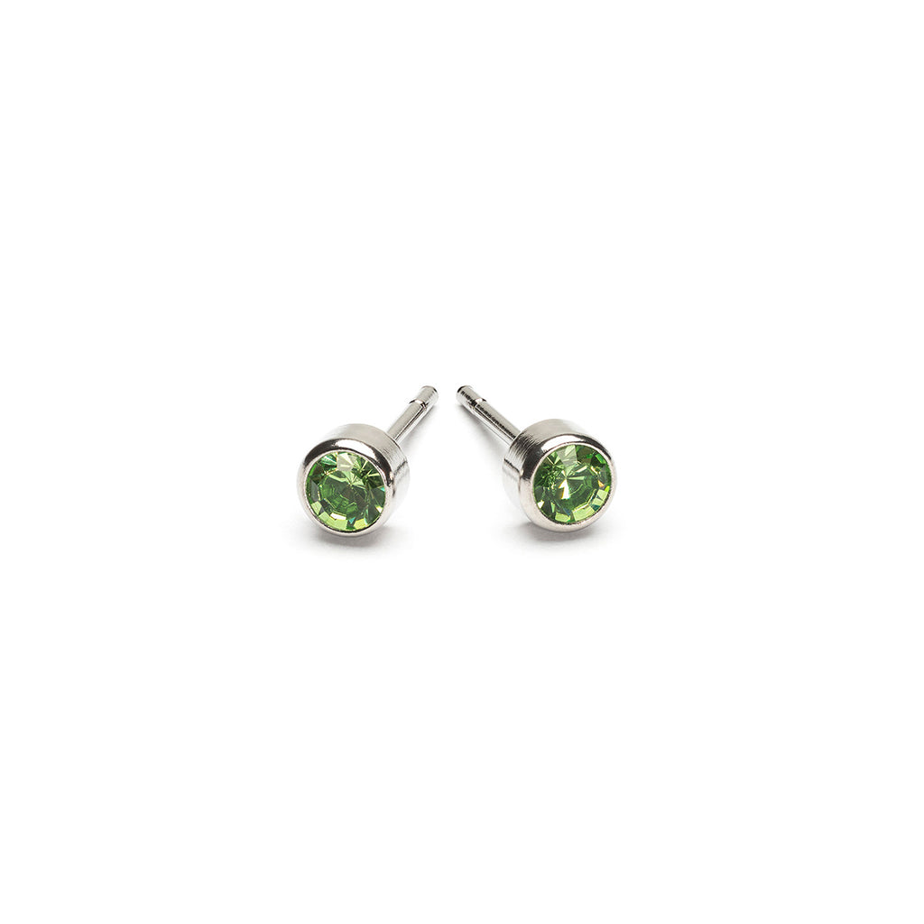August Birthstone Stainless Steel Earrings - Simply Whispers